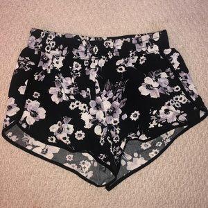 Floral Garage Flared Shorts